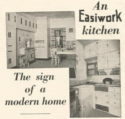 1930s kitchen Easiwork advert