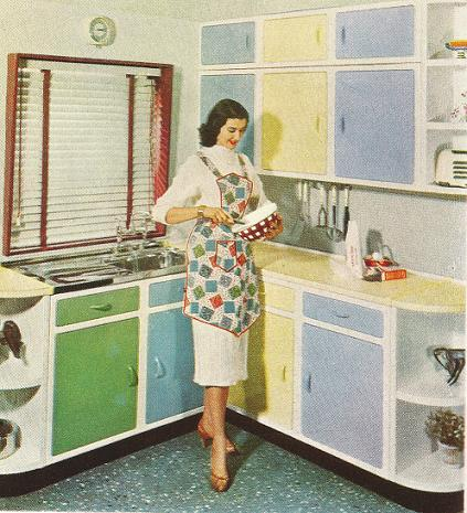 Kitchens 1950s 20th century home for Kitchen cabinets 50 style