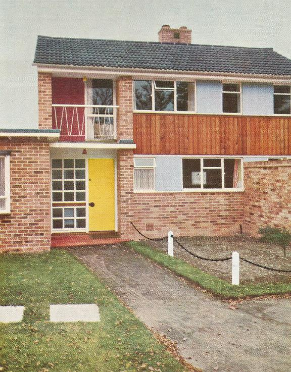 Coloured exteriors of the 50s and 60s 20th century home for 60s architecture homes