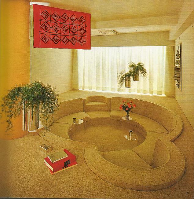 conversation pits and sunken baths 20th century home