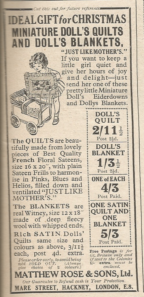 1930 Dolly Blankets