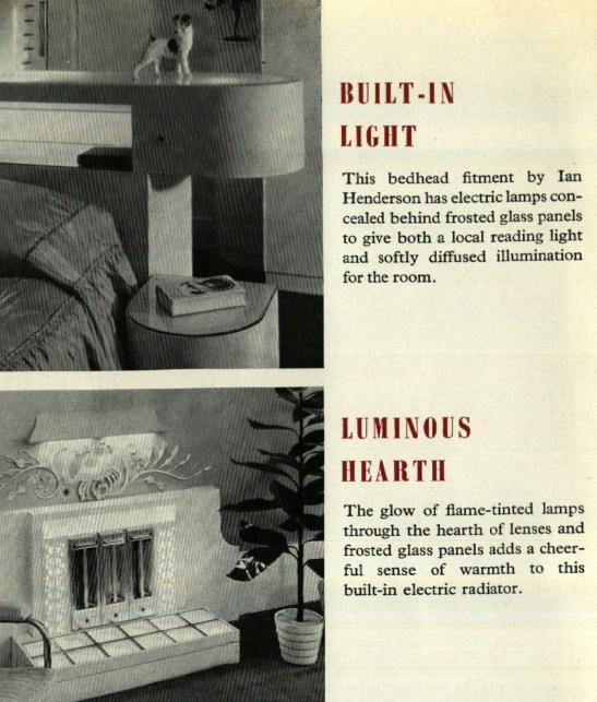 Built in lights 1950s
